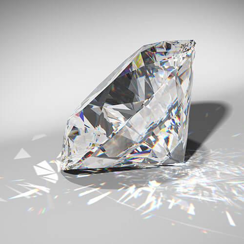 ダイヤモンドのような透明性のイメージ